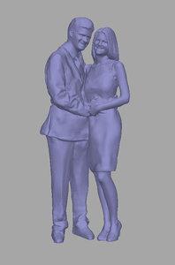 3D scanned background model