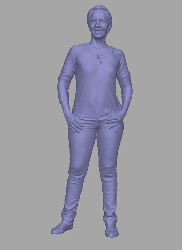 3D scanned background