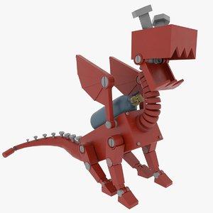 mech dragon creature model