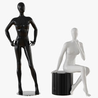 mannequin abstract 3D