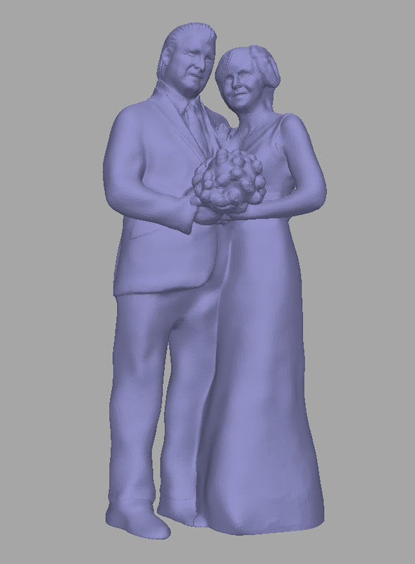 3D model scanned background