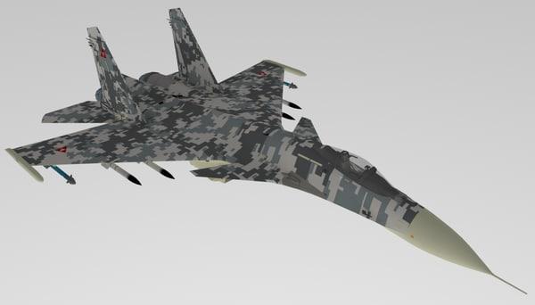 3D sukhoi su-37 model