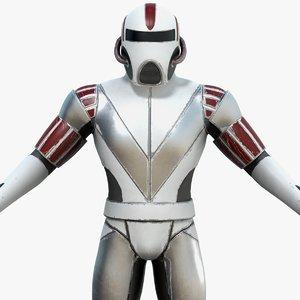 3D model sci-fi armor