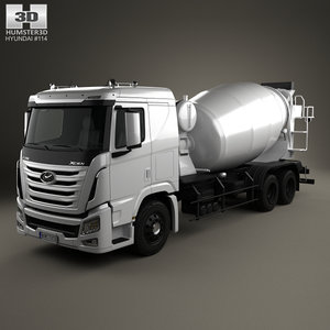 hyundai mixer xcient 3D model