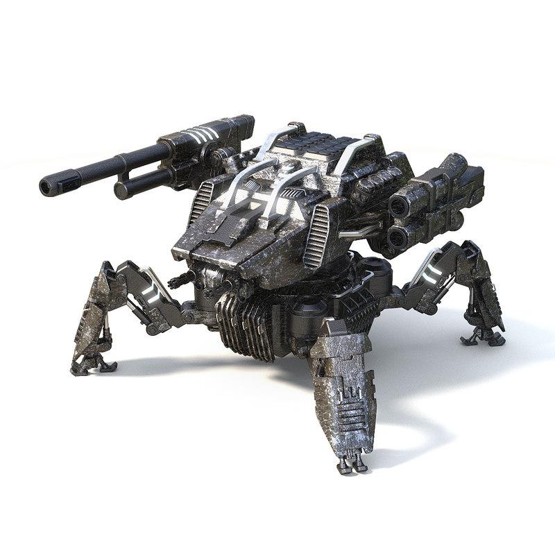 3D warrior spider