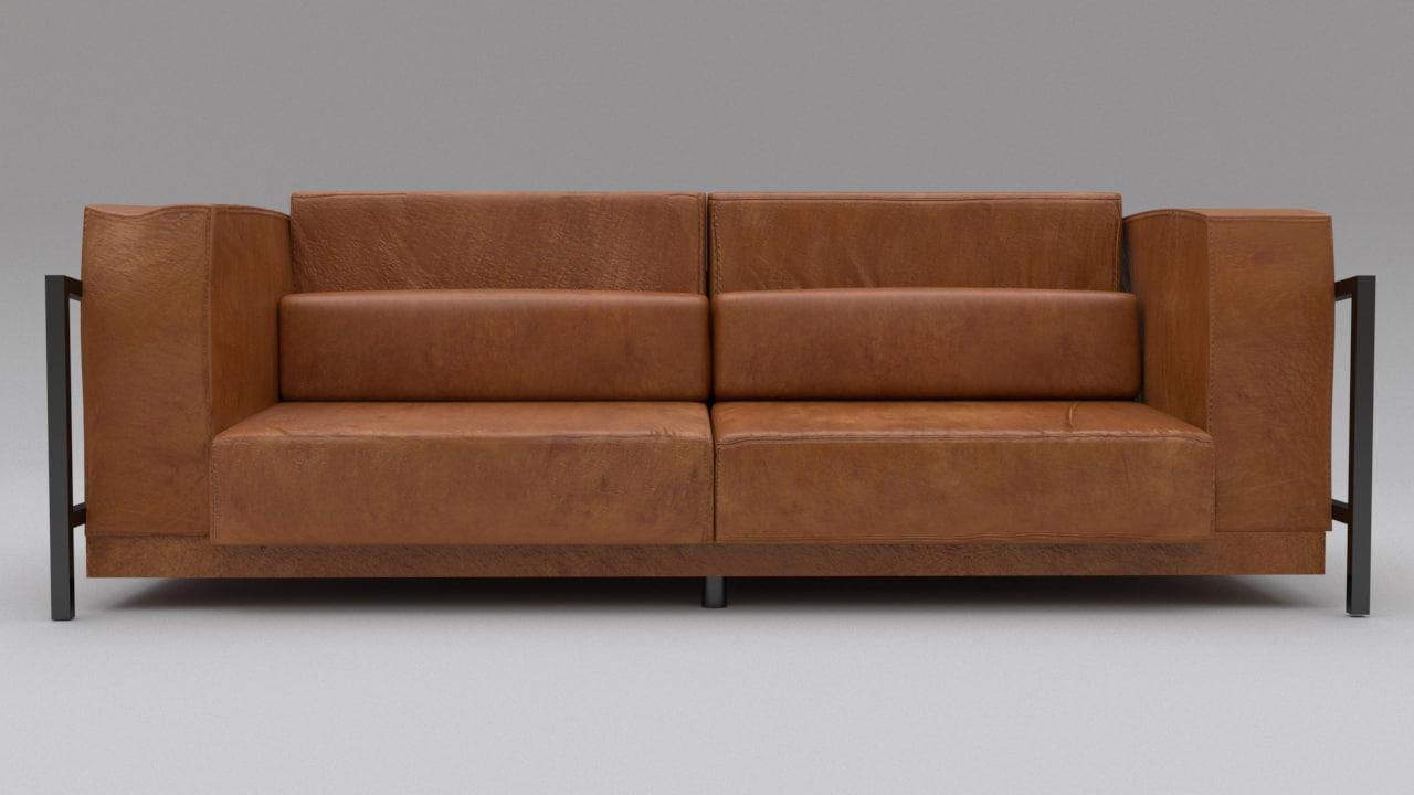 modern leather sofa model
