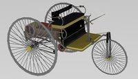 mercedes benz 1886 3D model