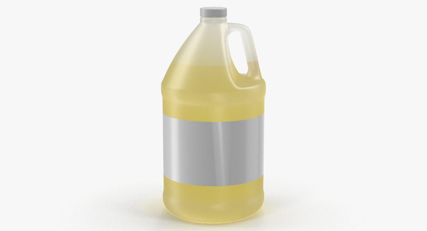 orange juice plastic container model