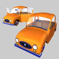 3D toon car