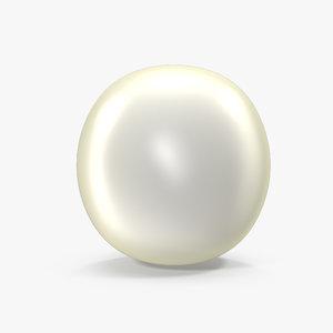 3D model pearl realistic
