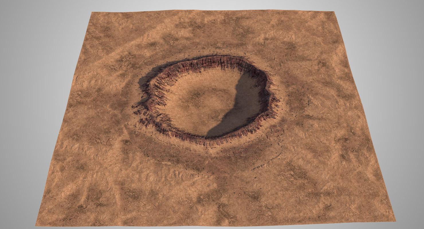 3D impact crater model