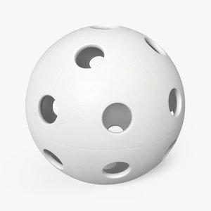 3D plastic wiffle ball baseball