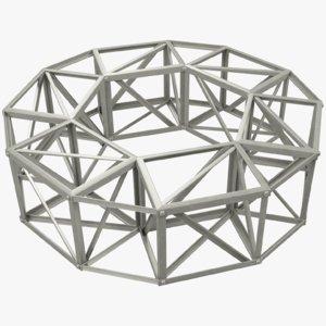 3D building frame model