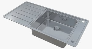3D sink blanco andano xl