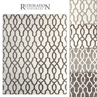 restoration rugs flatweave fretwork 3D model