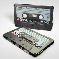 compact cassette 3D model