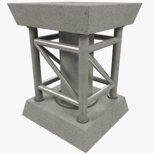 3D truss column model