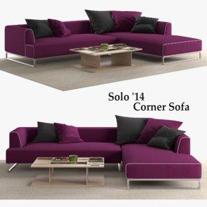 solo 14 corner sofa model