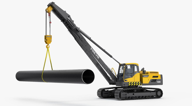 3D pl3005d pipelayer layers model