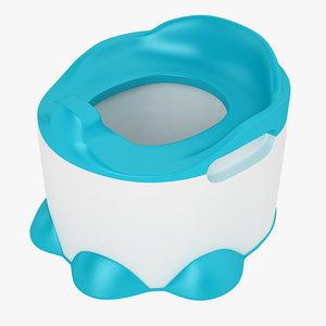 3D baby toilet bumbo model