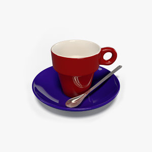 espresso set 3D model