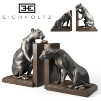 bookend lioness set 2 3D model