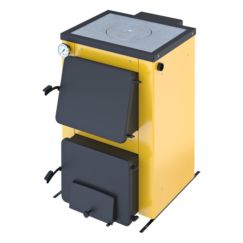 3D stove yellow