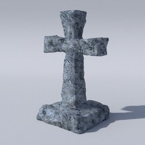 ancient tombstone hires 3D model