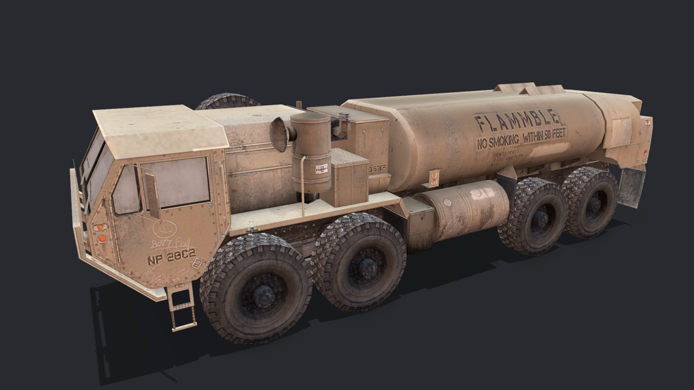 3D model military vehicles