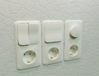 Realistic Wall Light Switch and Dimmer with Socket 3D Model