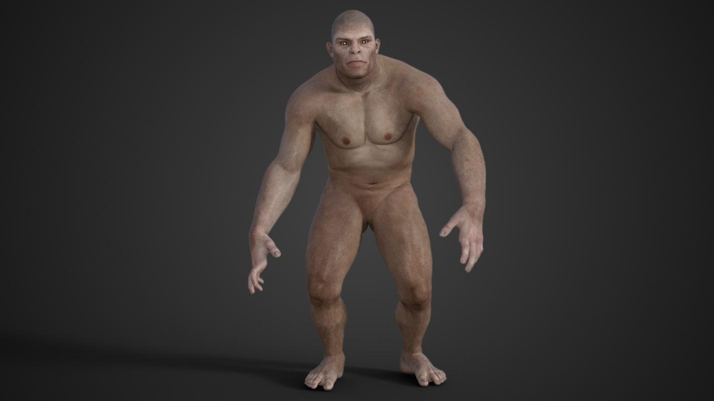 3D model australopithecus