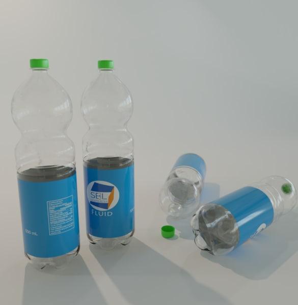pet bottle realistic 3D model