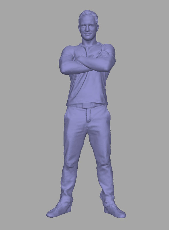scanned background polys 3D