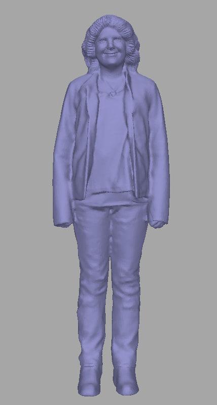3D scanned woman background model
