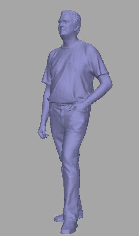 scanned background polys 3D model