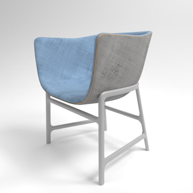 3D interior fritz hansen minuscule model