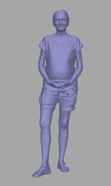 3D scanned background polys