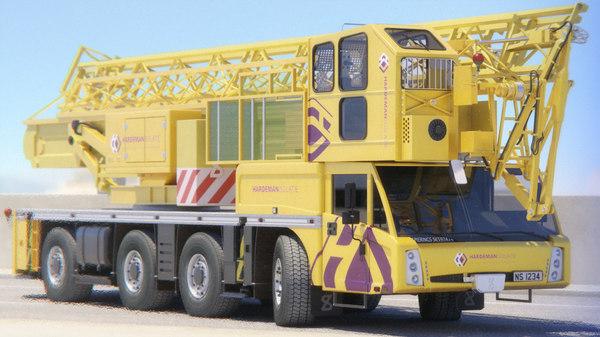 3D mobile crane sk597 at4