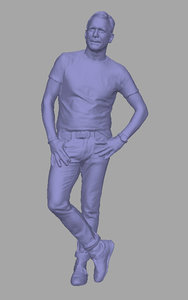 3D scanned background polys model
