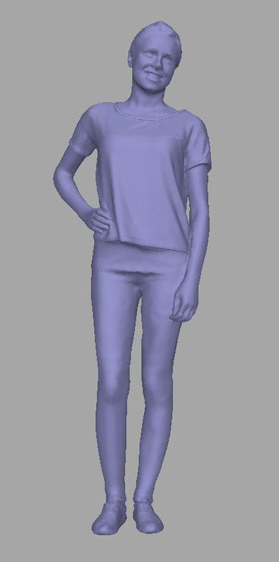 3D model scanned background polys