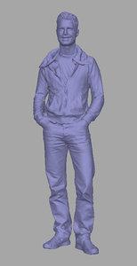 3D scanned background polys model