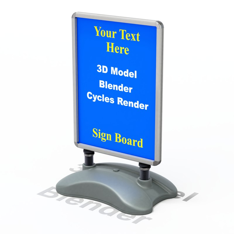 stand sign street 3D model