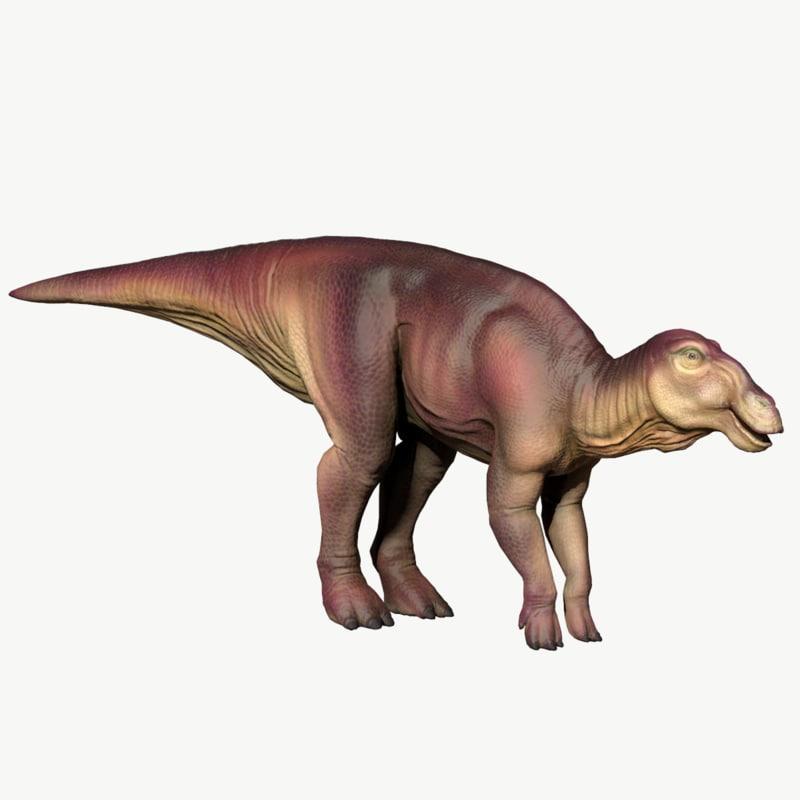 3D edmontosaurus