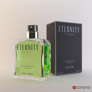 3D perfume calvin klein eternity model