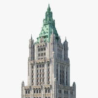 realistic woolworth building model