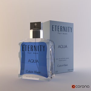 3D model perfume calvin klein eternity