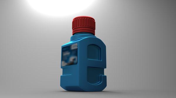 toner bottle 3D model