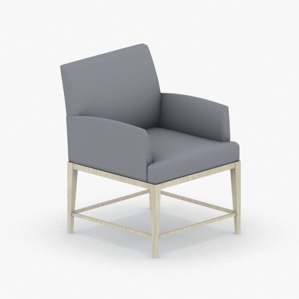 interior - armchair chair stool 3D model