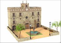3D facade building classic model