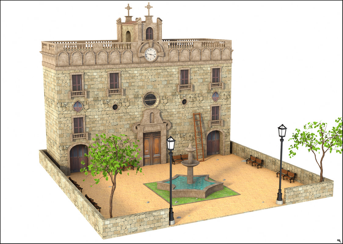 3D facade building classic model